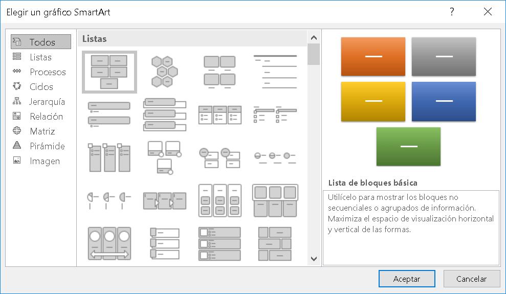 Los gráficos SmartArt
