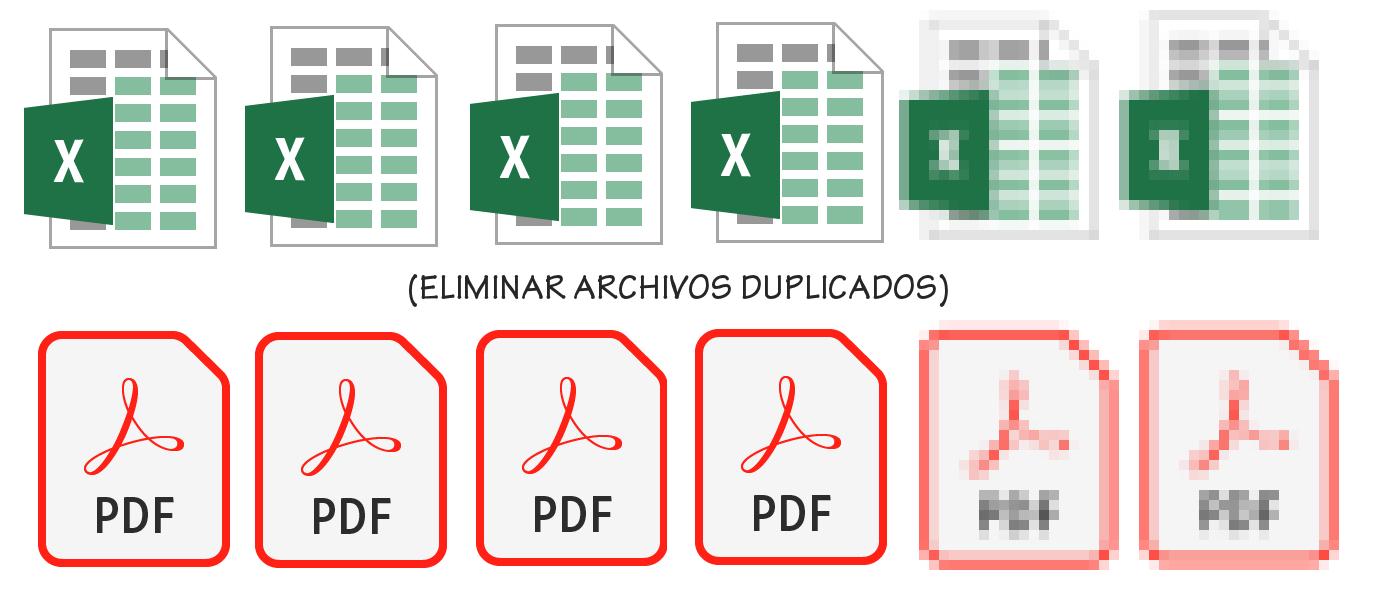Eliminar archivos duplicados