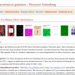 Libros electrónicos disponibles en Gutenberg