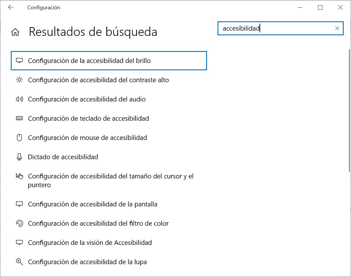 Configuración / Accesiblidad