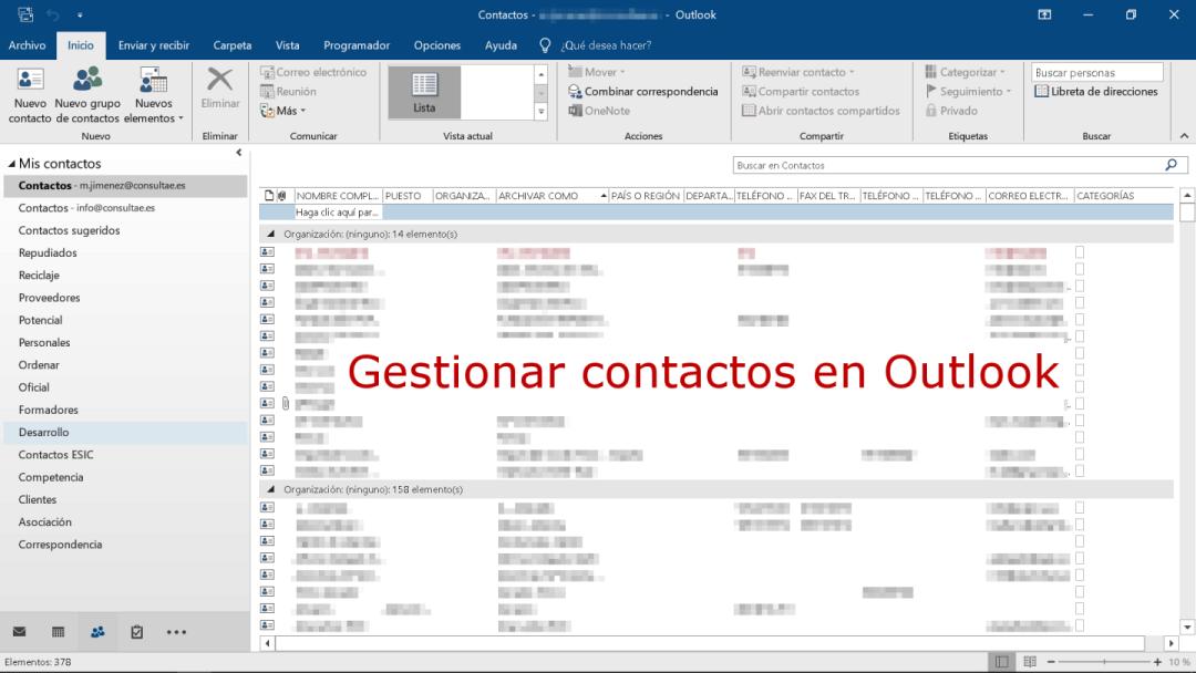 Contactos de Ms Outlook