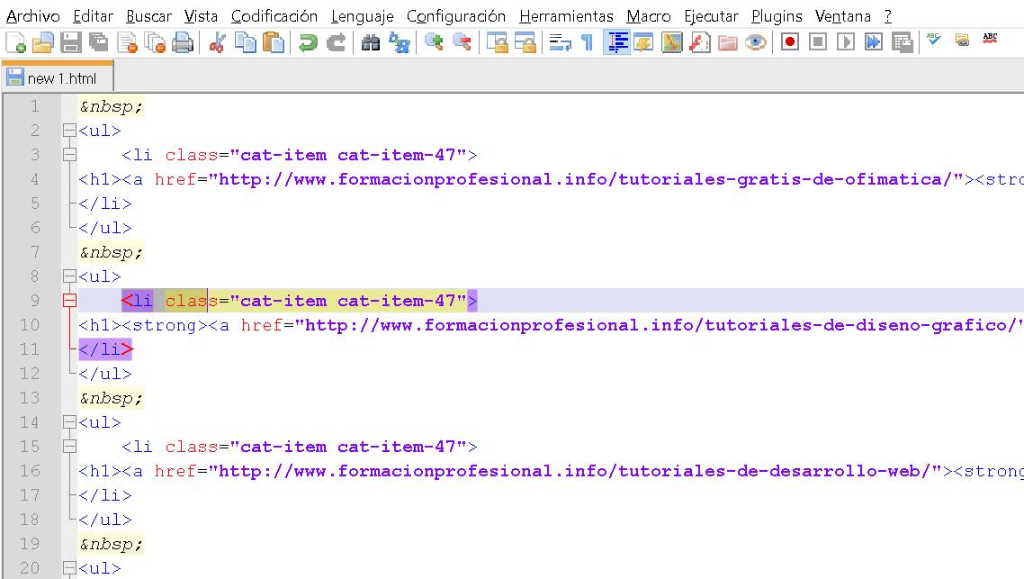 Tutorial programación web con HTML