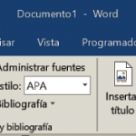 Ficha Referencias de Word 2013 / 2016 / 2019