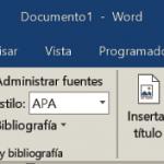 Ficha Referencias de Word 2013 / 2016 / 2019