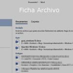 Ficha Archivo Word 2013 / 2016 / 2019