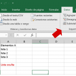 Anidar datos en Excel