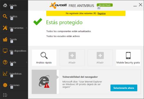 Manuales y tutoriales del antivirus gratuito Avast!