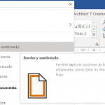 Bordes y sombreados en Word
