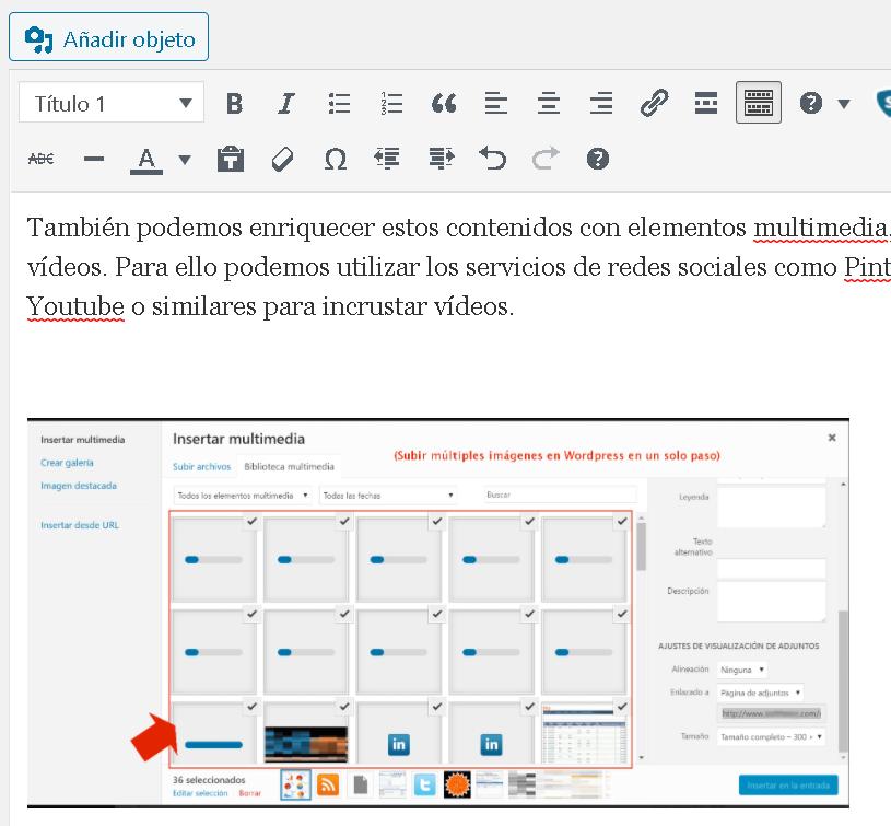 Generación de contenidos con WordPress