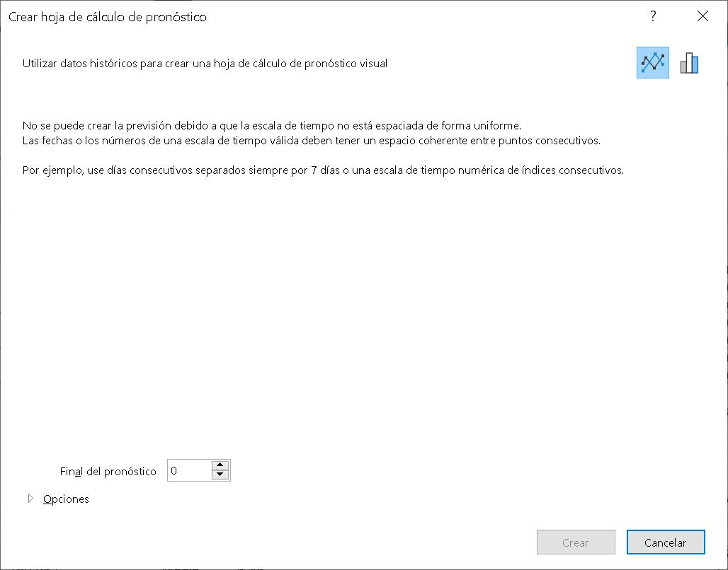 Previsión en Excel