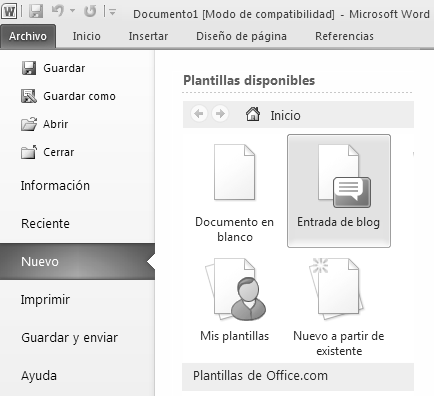 Plantilla de Ms Word / Entrada de blog