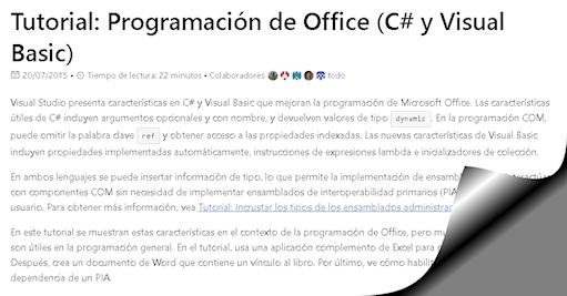 Tutorial: Programación de Office (C# y Visual Basic)