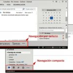 Navegación compacta en Outlook