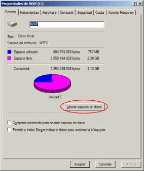 liberar espacio de disco duro