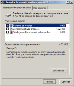 liberar espacio windows 10