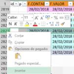 ¿Porqué tarda tanto Excel en insertar filas?