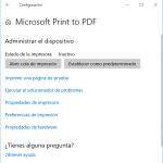 Impresora Microsoft Print to PDF
