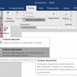 La herramienta traductor de Office