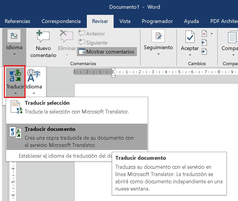 Traductor de Word