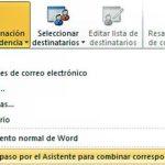 Combinar correspondencia en Word 2013