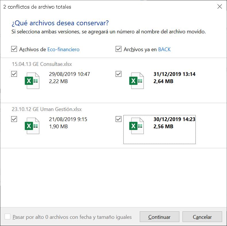 Copiar ficheros de forma segura en Windows 10