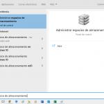 Espacios de almacenamiento en Windows 10
