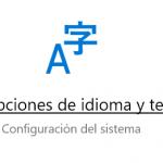 Cambiar el idioma de Windows 10
