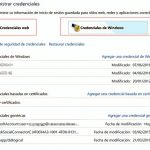 Administrador de credenciales de Windows