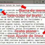 El bloc de notas de Windows 10