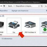 Fax y escáner en Windows 10
