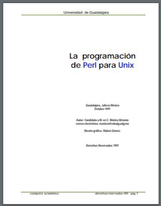 Manual en PDF Programación de PERL para Unix