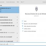 El reconocimiento de voz de Windows 10