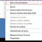 Barra de tareas de Windows 10