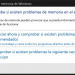 Diagnóstico de memoria de Windows 10