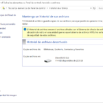 El Historial de archivos de Windows 10