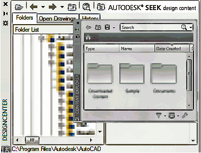 desing_center_&_content_explorer_autocad