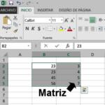 Cálculos rápidos con matrices en Excel
