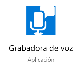 La grabadora de Windows 10