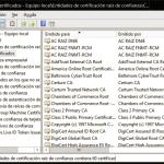 El Administrador de Certificados de Windows 10