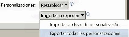 Exportar y migrar datos