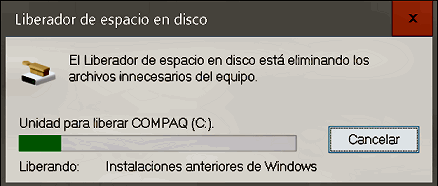 Liberar espacio en Windows