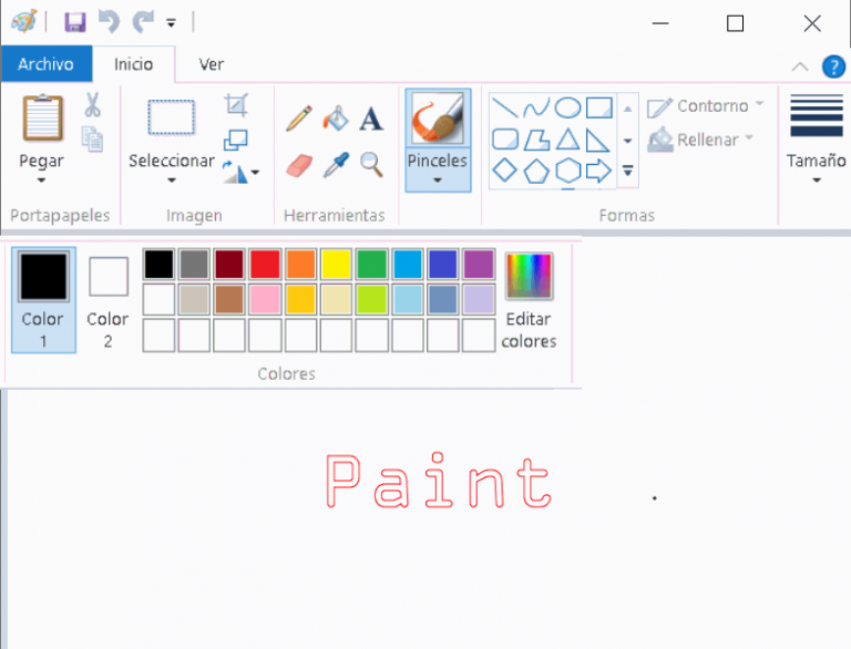 Paint en windows 10