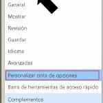 Personalizar la cinta de opciones de Word 2013