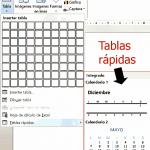 Inserción de tablas en Powerpoint