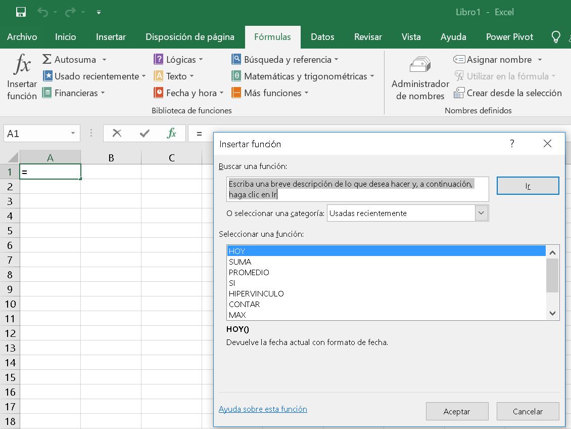 Tutorial de Excel fórmulas y funciones – ? Buscar Tutorial