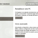 Recuperación de Windows 10