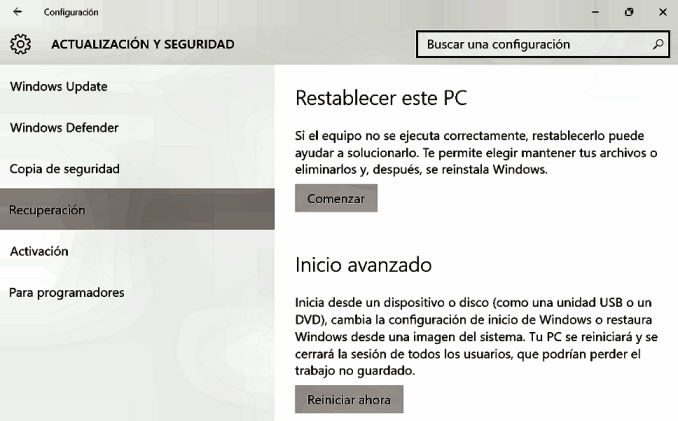 Actualización de seguridad en Windows
