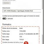 Configurar la fecha y hora en Windows 10