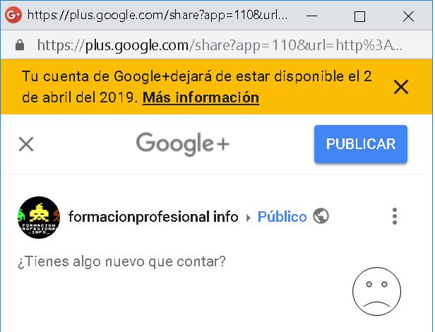 Google+ cierra en abril de 2019