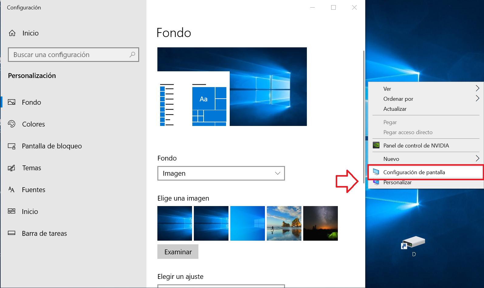 Desactivar animaciones y fondos en Windows 10
